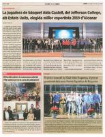 El sènior masculí del Club Volei Roquetes, el primer guardonat dels nous Premis Esportius de Roquetes.