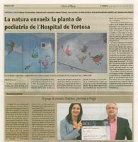 La natura envaeix la planta de pediatria de l'Hospital de Tortosa