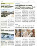 El ple de Roquetes aprova una moció d'ajuts al comerç amb el vot en contra del govern municipal.