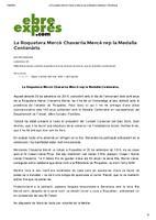 La Roquetera Mercè Chavarria Mercè rep la Medalla Centenària