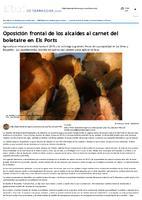Oposición frontal de los alcaldes al carnet del boletaire en Els Ports