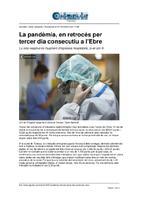 La pandèmia, en retrocés per tercer dia consecutiu a l'Ebre.