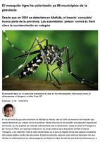 El mosquito tigre ha colonizado ya 98 municipios de la provincia