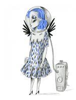 Il·lustració 'Aprendre a respirar' d'Ignasi Blanch per a Catorze.cat, 2020