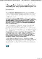 Sobreseguda la denúncia contra l'alcalde de Roquetes pels llaços grocs.