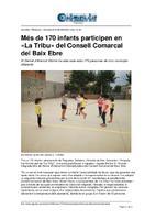 """Més de 170 infants participen en """"La Tribu"""" del Consell Comarcal del Baix Ebre."""
