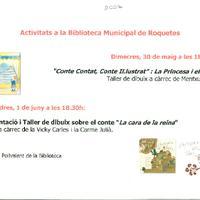 Activitats a la Biblioteca Municipal de Roquetes