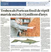 Troben als Ports un fòssil de rèptil marí de més de 175 milions d'anys