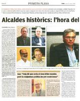 Alcaldes històrics: l'hora del relleu.