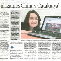 """Enlazamos China y Catalunya"""
