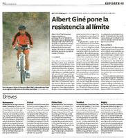 Albert Giné pone la resistencia al límite