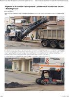 Roquetes fa els treballs d'arranjament i pavimentació en diferents carrers.