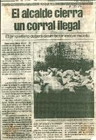 El alcalde cierra un corral ilegal: el propietario deberá desinfectar todo el recinto