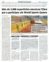 Més de 3.000 esportistes envairan l'Ebre per a participar als World Sports Games.