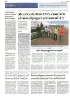 Alcaldes del Baix Ebre s'uneixen al #novullpagar i reclamen l'A-7