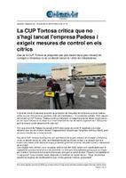 La CUP Tortosa critica que no s'hagi tancat l'empresa Padesa i exigeix mesures de control en els cítrics.
