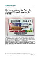 Els parcs naturals del Port i del delta de l'Ebre, als cupons de l'ONCE