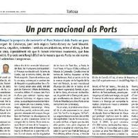 Un parc nacional als Ports
