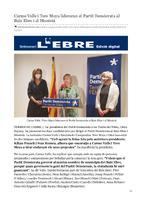 Carme Valls i Tere Moya lideraran el Partit Demòcrata al Baix Ebre i al Montsià.