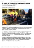 El massís del Port acollirà el final d'etapa de la volta ciclista a Catalunya al 2017.