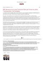 """ERC demana el vot a les Terres de l'Ebre per frenar els plans """"transvasistes"""" de Ciutadans"""
