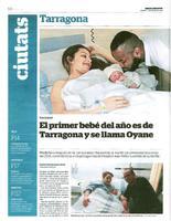 El primer bebé del año es de Tarragona y se llama Oyane.
