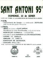 Cartell de la Festa de Sant Antoni, 1995