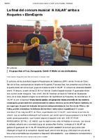 """La final del concurs musical """"A Xalar"""" arriba a Roquetes"""