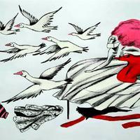 Il·lustració 'En la priza, cris urbanos' un diàleg entre dues ciutats confinades i entre dos cases amb finestres, amb Myriam Mézières, per Ignasi Blanch