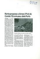 Horta proposa a Arnes i Prat de Comte l'Ecomuseu dels Ports