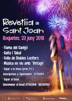 Cartell de la Revetlla de Sant Joan a Roquetes, 23 de juny de 2019