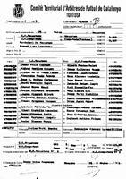 Acta de la Federació Catalana de Futbol del Partit entre el UD Campredó i el CD Roquetes, el 25 de març del 1995