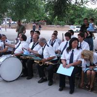 Concert de la banda de Música de la Lira de Roquetes en motiu del seu centenari, a les Festes Majors de l'any 2007