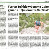 Ferran Teixidó y Gemma Colomé ganan el 'Quilòmetre Vertical'
