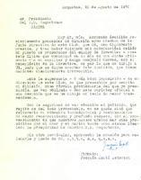 Comunicat de Joaquim Martí Estorach al President del CD Roquetenc, 25 d'agost de 1970