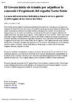 El Govern inicia els tràmits per adjudicar la concessió i l'explotació de regadiu Xerta-Sénia