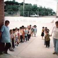 Inici del curs a l'Escola de la Raval de Cristo, curs 2001-2002
