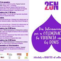 25N. Dia Internacional per a l'eliminació de la violència envers les dones.