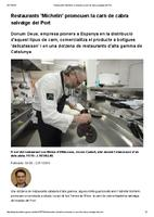 "Restaurants ""Michelin"" promouen la carn de cabra salvatge del Port"