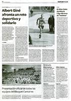 Albert Giné afronta un reto deportivo y solidario