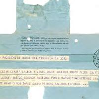 Telegrama del CD Roquetenc, 1971