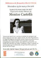 """""""Parents per part de Riu"""": Espectacle musico-literari de Montse Castellà"""