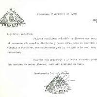 Comunicat entre el CD Roquetenc i el Patronat de Festes de Roquetes, abril 1987