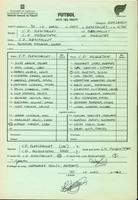 Acta de la Federació Catalana de Futbol del partit disputat entre el CD Roquetenc i el CF Benifallet, el 30 de maig de 1992