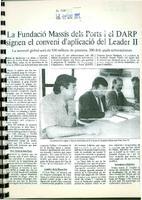 La Fundació Massís dels Ports i el DARP signen el conveni d'aplicació del Leader II.