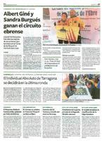 Albert Giné y Sandra Burgués ganan el circuito ebrense