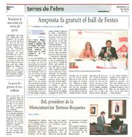 Bel, president de la Mancomunitat Tortosa-Roquetes