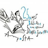 Il·lustració en motiu de la commemoració del 25è aniversari de la Biblioteca Sebastià Juan Arbó d'Amposta, d'Ignasi Blanch, 2020