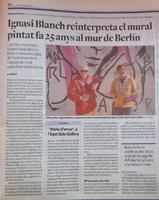 Ignasi Blanch reinterpreta el mural pintat fa 25 anys al mur de Berlín