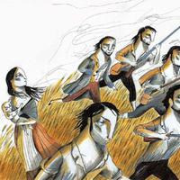 Il·lustració d'Ignasi Blanch per al Litterarum 2019 de Móra d'Ebre